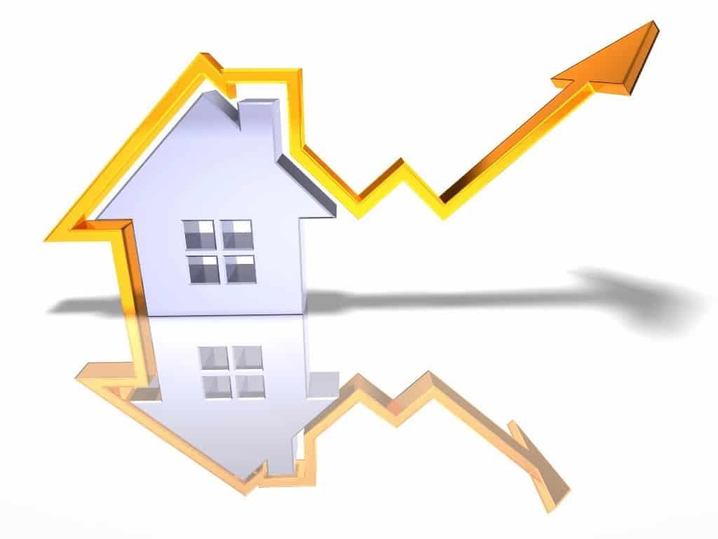 Courbe de croissance de l'immobilier
