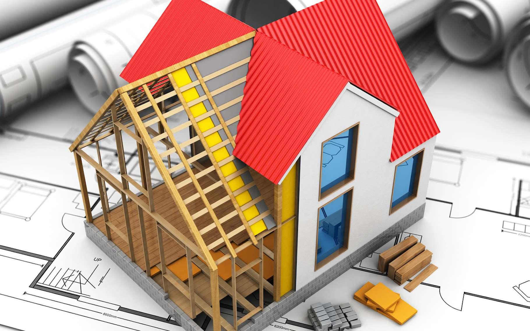 Maquette des travaux d'isolation à réaliser sur son logement
