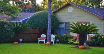 Une maison avec un jardin