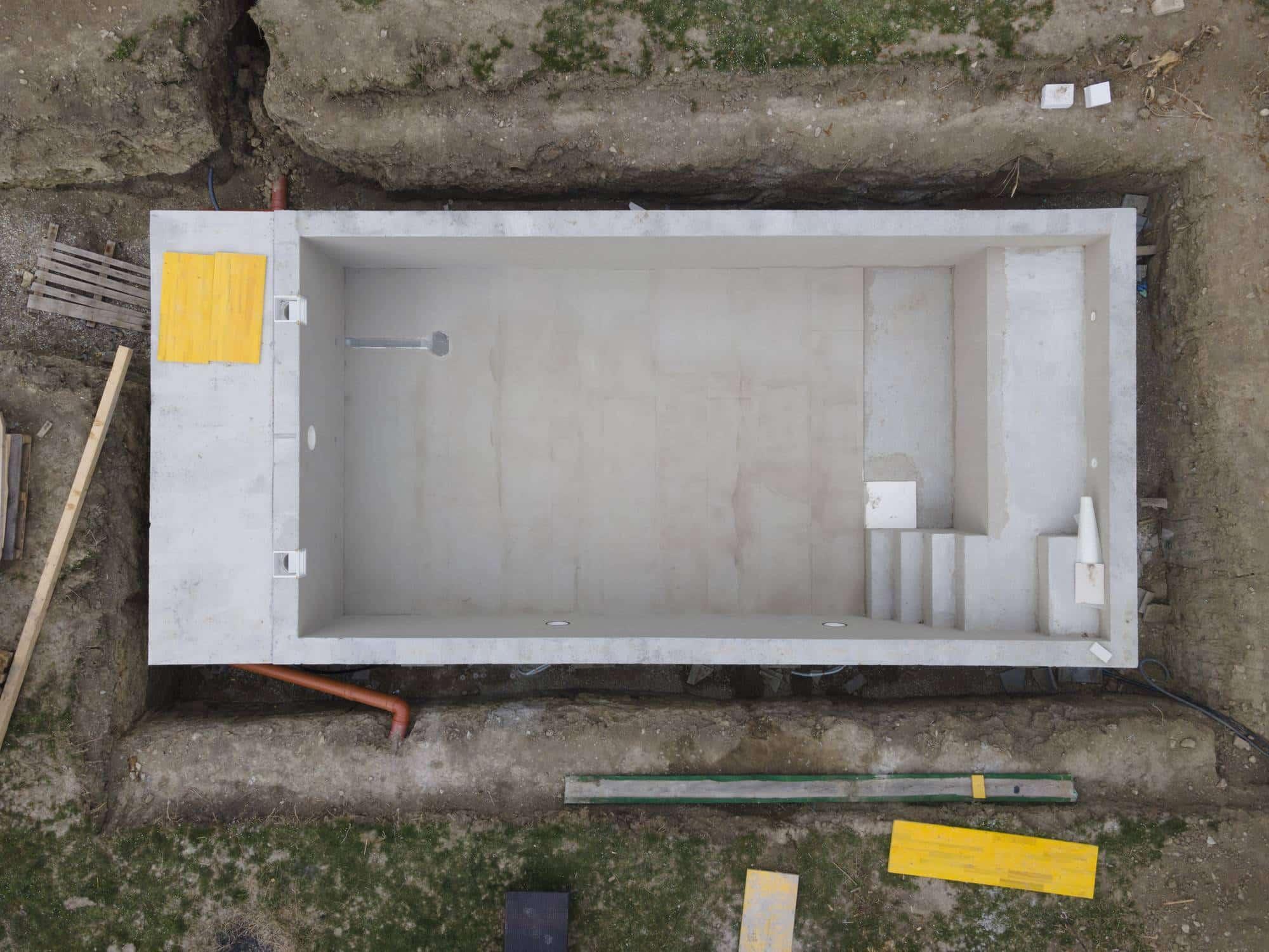 Travaux de construction de piscine